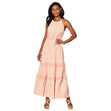 Curations Maxi Dress with Lace Trim