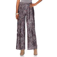 Curations Printed Velvet Palazzo Pant