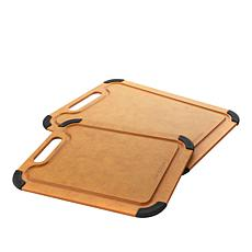 Curtis Stone 2-piece Wood Fiber Cutting Board Set