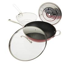 Curtis Stone Dura-Pan 5-Quart 4-piece Nonstick Chef's Skillet Set