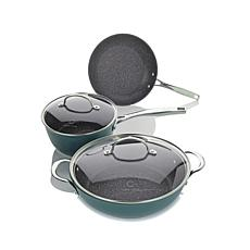 Curtis Stone Dura-Pan 5pc Essentials Cookware Set