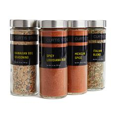 Curtis Stone Flavors of the World 4-pack 4 oz Jar Spice Set Auto-Ship®