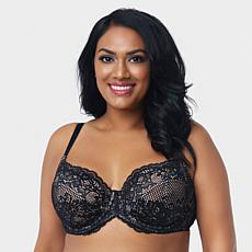 Curvy Couture Beautiful Bliss Unlined Lace Bra