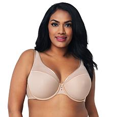 Curvy Couture Diamond Net Underwire Push-Up Bra