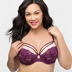 Curvy Couture Tulip Strappy Lace Underwire Push-Up Bra