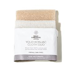 Daily Concepts Your Konjac Cloth Duo - Pure & Turmeric