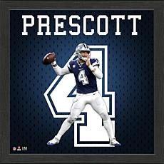 Dak Prescott Impact Jersey Framed Photo