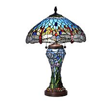 Dale Tiffany Cody Dragonfly Tiffany-Style Table Lamp