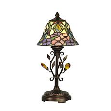 Dale Tiffany Crystal Peony Accent Lamp