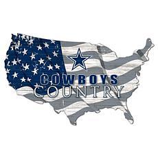 Dallas Cowboys USA Shape Flag Cutout