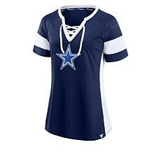 Dallas Cowboys Women's Athena Lace-Up Fashion Jersey by Fanatics