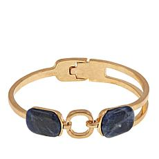 "Danielle Nicole ""Amulet"" Simulated Sodalite Bangle Bracelet"