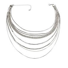 "Danielle Nicole ""Carrie"" 8-Row 12-1/2"" Choker Necklace"
