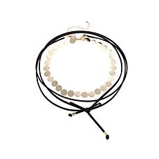 Danielle Nicole Goldtone Disc Wrap Choker Necklace