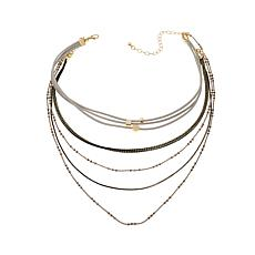 "Danielle Nicole ""Many Suitor"" Multi-Strand Bib Necklace"
