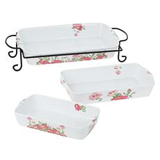 Darbie Angell Rose 4-piece Porcelain Bake and Serve Set
