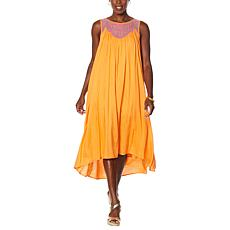 DAVID David Meister Washed Luxe Maxi Dress