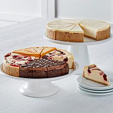 """David's Cookies (2) 4.25lb 10"""" Pre-Cut Cheesecakes - November Delivery"""