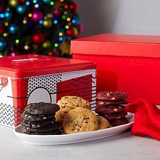 David's Cookies 54-piece Bite Sized Cookies in Tin - Nov. Shipment