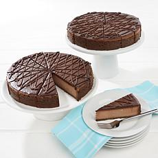 "David's Cookies Set of 2 10"" Triple Chocolate Cheesecakes"