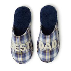 Dearfoams Best Dad Novelty Closed Toe Scuff
