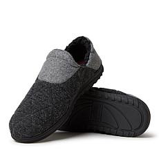 Dearfoams Men's Felted Microwool and Knit Closed Back