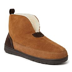 Dearfoams Men's Genuine Suede Boot Slippers