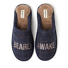 Dearfoams Men's Microwool Novelty Closed Toe Scuff Slippers