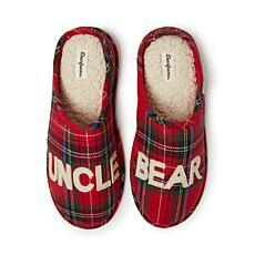 Dearfoams Men's Uncle Bear Plaid Clog