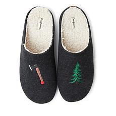 Dearfoams Men's Washable Birch Microwool Molded Footbed Clog Slipper