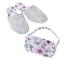 Dearfoams Mom's Novelty Slipper and Eye Mask Set