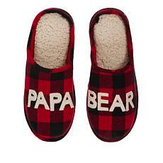 Dearfoams Papa Bear Plaid Slipper