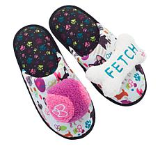 Dearfoams Pet Collection Memory Foam Slipper and Pet Toy