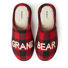 Dearfoams Unisex Grand Bear Clog Slipper