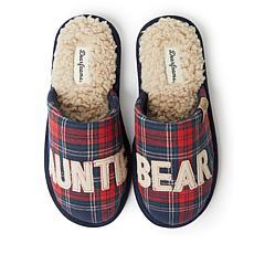 Dearfoams Women's Auntie Bear  Scuff Slipper