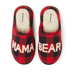 Dearfoams Women's Buffalo Check Mama Bear Clog Slipper