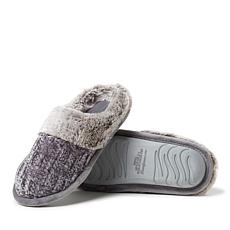 Dearfoams Women's Chenille Knit Clog with Plush Cuff