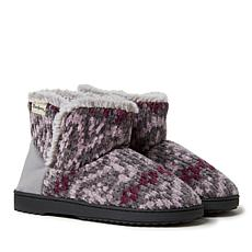 Dearfoams Women's Fairisle or Solid Chenille Knit Boot