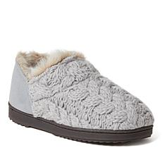 Dearfoams Women's Hayden Chunky Cable Knit Bootie Slipper