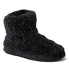 Dearfoams Women's Leah Marled Chenille Knit Bootie Slipper