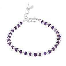 "Deb Guyot 33.94ctw Herkimer ""Diamond"" Quartz and Amethyst Bracelet"
