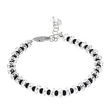 "Deb Guyot 38.89ctw Herkimer ""Diamond"" Quartz and Black Spinel Bracelet"