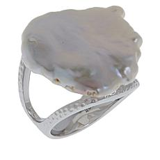 Deb Guyot Studio Baroque Cultured Freshwater Pearl Textured Ring