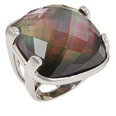 Deb Guyot Studio Black Mother-of-Pearl and Crystal Doublet Ring