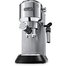 Dedica Deluxe Pump Espresso Machine w/Rapid Cappuccino System - Steel