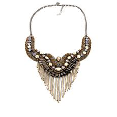 "deepa by Deepa Gurnani®  ""Georgie"" Fringe Bib Necklace"