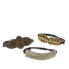 "deepa by Deepa Gurnani® ""Gilly"" Metallic Hair Ties"