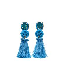 "deepa by Deepa Gurnani® ""Luisa"" Thread Tassel Earrings"