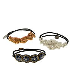 "deepa by Deepa Gurnani® ""Nella"" Blush Multi Hair Ties"