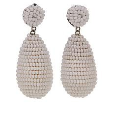 deepa by Deepa Gurnani® Seed Bead Teardrop Earrings